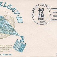 Sellos: SOBRE NO CIRCULADO CON MATASELLOS DE LA BASE PATRICK AIR FORCE EN EL LANZAMIENTO DEL INTELSAT-III F6. Lote 221590231