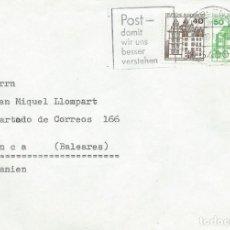 Sellos: 1980. ALEMANIA/GERMANY. KOBLENZ. RODILLO/SLOGAN. CORREO PARA QUE PODAMOS ENTENDERNOS MEJOR.. Lote 221875910