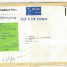 Sellos: AUSTRALIA OFFICIAL MAIL TO SPAIN DOUANE C1. Lote 222224278