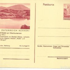 Sellos: AUSTRIA ENTERO POSTAL OBERTRUM LAGO LAKE VELA SEGELSPORT. Lote 222461011