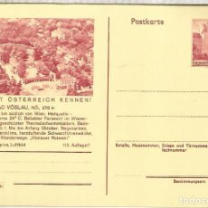Sellos: AUSTRIA ENTERO POSTAL BAD VOSLAU SPA TERMALISMO. Lote 222461155