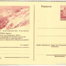 Sellos: AUSTRIA ENTERO POSTAL KAPRUN SALZBURG MONTAÑA MOUNTAIN. Lote 222462807