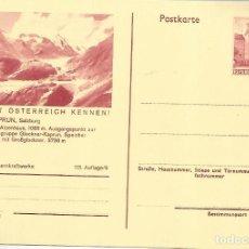 Sellos: AUSTRIA ENTERO POSTAL KAPRUN SALZBURG MONTAÑA MOUNTAIN ALPES. Lote 222463075