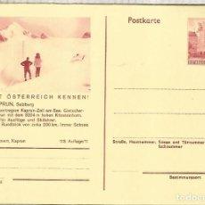 Sellos: AUSTRIA ENTERO POSTAL KAPRUN SALZBURG MONTAÑA MOUNTAIN ALPES SKI. Lote 222463763