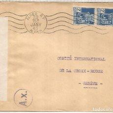 Sellos: ARGELIA CC A GINEBRA CRUZ ROJA INTERNACIONAL CENSURA BRITANICA Y ALEMANA DE PARIS AX. Lote 222476881