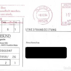 Sellos: ALEMANIA FEDERAL. FRANQUEO MECANICO. PLAUEN 1994. Lote 222642975