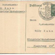 Sellos: ALEMANIA 3 REICH BERLIN MAT REUNION MUSSOLINI HITLER 1937 NAZISMO FASCISMO. Lote 222865341