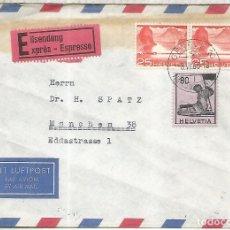 Sellos: SUIZA GENEVE CC URGENTE A MUNCHEN EXPRESS MAT NACIONES UNIDAS UNITED NATIOS 1960. Lote 222883565