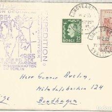 Sellos: NORUEGA SVALBARD ARTICO ARCTIC DEUTSCHE SPITZBERGEN EXPEDITION 1965. Lote 222888576