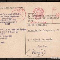 Sellos: ALEMANIA. 1988. LEIPZIG-VALENCIA.DESDE UNIVERSIDAD KARLX MARX.. Lote 230809865