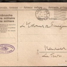 Sellos: SUIZA.1926. SOBRE ARMADA SUIZA.. Lote 231833075