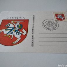 Sellos: TARJETA PRIMER DÍA LITUANIA. Lote 235510900