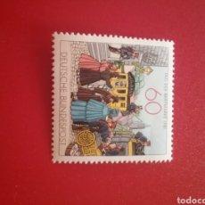 Francobolli: SELLO ALEMANIA R. FEDERAL NUEVOS/1981/DIA/SELLO/RELEVO/CARROZA/CARRUAJE/DILIGENCIA/CABALLO/TRAJES/VE. Lote 241759100