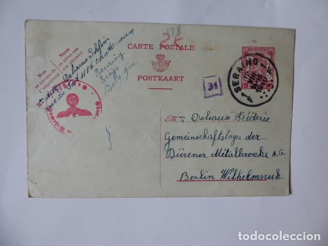 ENTERO POSTAL BELGICA DIRIGDO A BERLIN 1940 (Sellos - Historia Postal - Sellos otros paises)