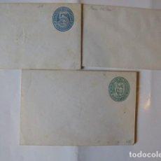Sellos: HISTORIA POSTAL 3 SOBRES MONTEVIDEO URUGUAY PREFRANQUEADOS,. Lote 243146590