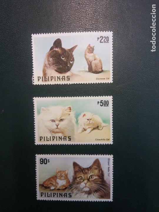 SELLOS. FILIPINAS. CATS (Sellos - Historia Postal - Sellos otros paises)
