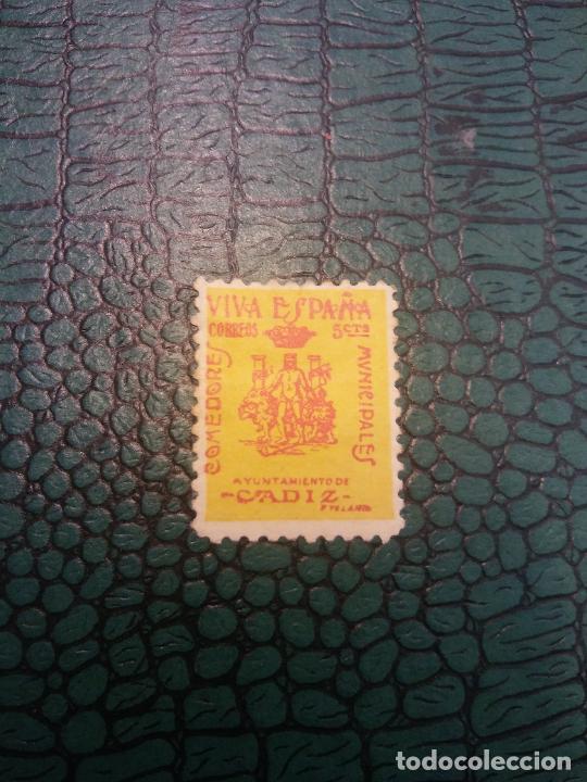 SELLOS. VIVA ESPAÑA. AYUNTAMIENTO DE CADIZ (Sellos - Historia Postal - Sellos otros paises)