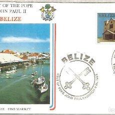 Selos: BELIZE VISITA DEL PAPA JUAN PABLO II A RELIGION POPE. Lote 245431610