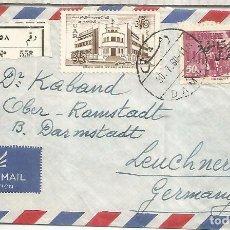 Sellos: UAR SYRIA FRONTAL CC CERTIFICADA A ALEMANIA. Lote 246081935
