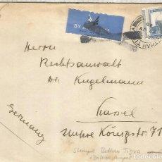 Sellos: PALESTINA FRONTAL A ALEMANIA 1936 MARCA CORREO AEREO AIR MAIL. Lote 246083350