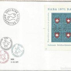 Sellos: SUIZA FDC BERN FILATELIA SELLOS SOBRE SELLO NABA 1971. Lote 246085925