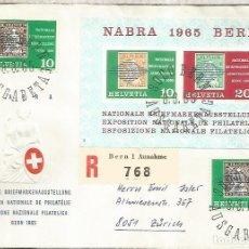 Sellos: SUIZA BERN CC CERTIFICADA NABRA 1965. Lote 246087070