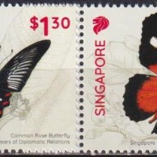Sellos: 🚩 SINGAPORE 2019 SINGAPORE - PHILIPPINES JOINT STAMP ISSUE MNH - BUTTERFLIES, JOINT ISSUE. Lote 246426325