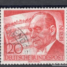 Sellos: BERLIN, STAMP, , 1956 , MICHEL 156. Lote 293606653