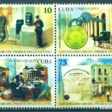 Sellos: ⚡ DISCOUNT CUBA 2015 THE 160TH ANNIVERSARY OF THE FIRST CUBAN STAMP MNH - POST OFFICE, POST. Lote 253844865