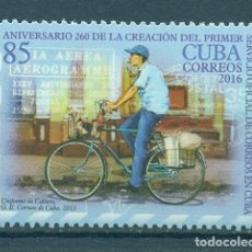 Sellos: ⚡ DISCOUNT CUBA 2016 THE 260TH ANNIVERSARY OF POSTAL DELIVERY IN CUBA MNH - BICYCLES, POST S. Lote 253845650