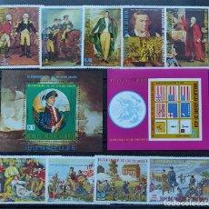 Selos: G. ECUATORIAL-BI-CENTENQRIO DE ESTADOS UNIDOS-I-MICHEL 559/67 HOJAS B 166 Y B 167. Lote 254265090