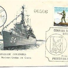 Sellos: BATALLON COLOMBIA EN COREA. SPD. COLOMBIA 1972. Lote 254514730