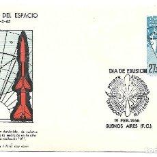 Sellos: CONQUISTA DEL ESPACIO. SPD. ARGENTINA 1966. Lote 254974145