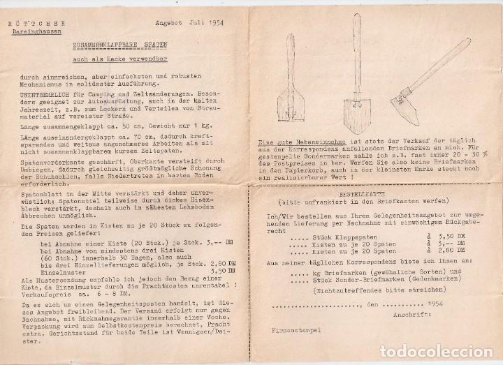 Sellos: ALEMANIA FEDERAL.1954. DOCUMENTO PALA PLEGABLE. - Foto 2 - 257273150