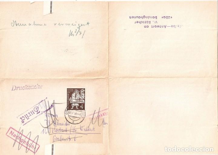 Sellos: ALEMANIA FEDERAL.1954. DOCUMENTO PALA PLEGABLE. - Foto 3 - 257273150