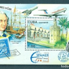 """Sellos: ⚡ DISCOUNT CUBA 1996 STAMP EXHIBITION """"ESPAMER '96"""" AVIATION AND SPACE - SEVILLE, SPAIN NG -. Lote 257573075"""