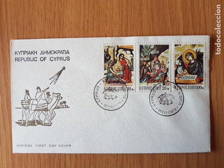 SOBRE DEL PRIMER DÍA CHIPRE (Sellos - Historia Postal - Sellos otros paises)