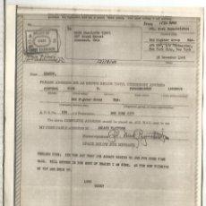 Sellos: ESTADOS UNIDOS USA WW2 V-MAIL AIRGRAPH PHOTOGRAPHY CHANGE OF ADDRESSE FORM CONNEAUT OHIO. Lote 262053205