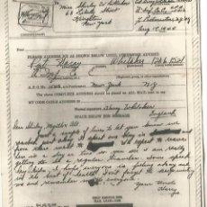 Sellos: ESTADOS UNIDOS USA WW2 V-MAIL AIRGRAPH PHOTOGRAPHY CHANGE OF ADDRESSE FORM KINSTON. Lote 262053400