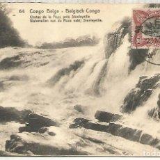 Sellos: CONGO BELGA ENTERO POSTAL CASCADA WATERFALL GEOLOGIA. Lote 262056700