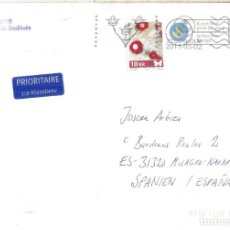 Sellos: SUECIA ENTERO POSTAL CON FRANQUEO MARIPOSA INSECTO INSECT BUTTERFLY. Lote 262994980