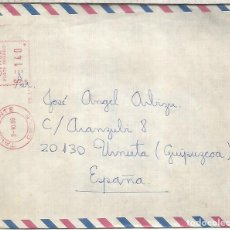 Sellos: CHILE TALAGANTE CC A ESPAÑA FRANQUEO MECANICO METER. Lote 263008355