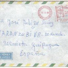 Sellos: BRASIL SANTOS CC A ESPAÑA FRANQUEO MECANICO METER. Lote 263008680