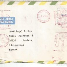 Sellos: BRASIL RIO CC A ESPAÑA FRANQUEO MECANICO METER. Lote 263008785