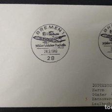"""Selos: ALEMANIA 1969. MATASELLOS """" 50 AÑOS DEL AEROPUERTO DE VERKHRS.. Lote 266972199"""