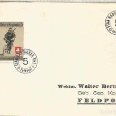 Selos: SUIZA CORREO MILITAR FELDPOST STAB RADFAHRER RGT 5 BICICLETA CICLISMO CYCLING. Lote 267309039