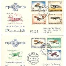 Sellos: HISTORIA DE LA AVIACION. 3 SPD. SAN MARINO 1962. Lote 269295898