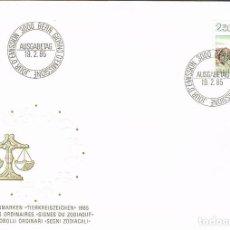 Sellos: SUIZA IVERT 1217, SIGNOS DEL ZODIACO: LIBRA, MATASELLO DE 19-2-1985. Lote 269708983