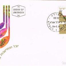 Sellos: ISRAEL 364, L ANIVERSARIO DE LOS ASENTAMIENTOS EN EMEQ. VALLE DE YEZREEL., PRIMER DÍA 24-8-1971. Lote 269849628