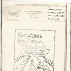 Sellos: ESTADOS UNIDOS USA WW2 V-MAIL AIRGRAPH PHOTOGRAPHY NAVIDAD CHRISTMAS MAPA AFRICA MAP. Lote 270939848